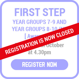 first step registration now closed