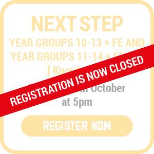 next step register now closed
